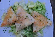 Samoussas courgette, saumon très légers
