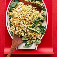 Corn, Feta and Couscous Salad with Basil Vinaigrette-Try with quinoa instead of couscous