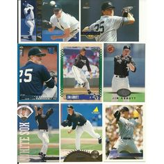 Huge 50 + Different JIM ABBOTT cards lot 4 RC 1989 - 2013 Angels Sox Yankees