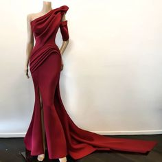 Gorgeous Mermaid Long Prom Dress , Charming Prom Dress With Train CR 9236 Sexy Dresses, Beautiful Dresses, Dress Outfits, Nice Dresses, Prom Dresses, Corset Dresses, Formal Dresses, Prom Dress With Train, One Shoulder Prom Dress