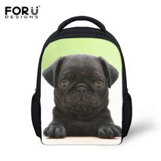 New Cute Pug Puppies Kids Backpack 3D Animal Mini Back Pack for Children Boys Lovely Kindergarten Baby Student Schoolbag Mochila
