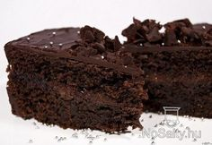 Sacher torta 3. - gyors Vegan Sweets, Biscuits, Food And Drink, Pudding, Cookies, Baking, Drinks, Recipes, Sweet Stuff