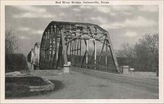old Red River Bridge, on IH-35 just north of Gainesville, TX ~ boundary between Texas and Oklahoma