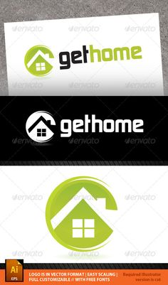 Get Home Logo Template by admirernepali File Description Vector based gethome logo template. This design could be used for different companies, product or for service.Fil