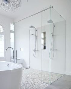 Make your bathroom a bath ROOM. Look at this beautiful one . Picture Pinterest