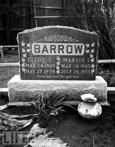 Clyde Barrow (1909-1934) Bank Robber. 1/2 of Bonnie And Clyde Grave Location: Western Heights Cemetery Dallas Texas