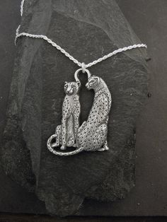 Sterling Silver Cheetah Pendant on a Sterling Silver by peteconder