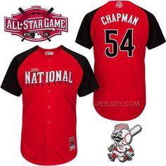 http://www.xjersey.com/national-league-reds-54-chapman-red-2015-all-star-jersey.html NATIONAL LEAGUE REDS 54 CHAPMAN RED 2015 ALL STAR JERSEY Only $41.00 , Free Shipping!