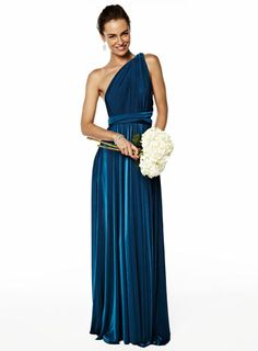 Ocean Long Twist & Wrap Dress - adult bridesmaids  - Wedding        This is amazing!!!!!