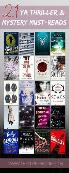 21 high-octane, twisty, captivating YA thrillers and mysteries. Why? Because they're the best. Go get your sleuth on.