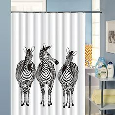 Amazon.com: Duolaimi High-grade Polyester Fabric Cute Zebra Waterproof Shower Curtain 7...: Home & Kitchen