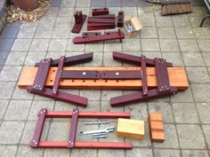 I've got about 8 shaving horses, which I use for running public workshops. I had previously made a batch of shaving horses from packing crat...