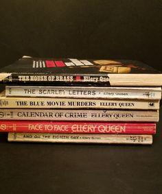 Lot of 6 Vintage Ellery Queen Paperback Books