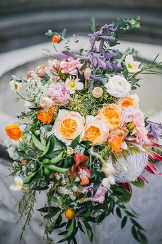 Spring wedding inspiration | photo by Jack and Hannah Photo | 100 Layer Cake