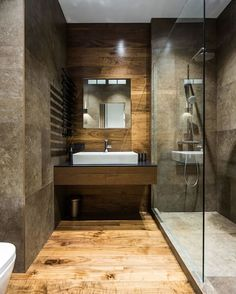 Wooden #Bathroom 😍 / St. Petersburg #Apartment designed by Pavel Isaev.  Tag an #Architecture Lover! #d_signers --- #design #designer #instahome #instadesign #architect #beautiful #home #homedesign #art #architecture #interiordesign #exterior #interior #luxury #lighting #decoration #decor #follow