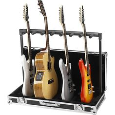 :: Road Runner 7 Guitar Stand Flightcase Black :: [musiciansfriend]