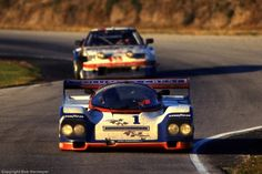 A.J. Foyt drives Porsche 962  Daytona 1987