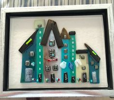 Like the painted window panes Glass Fusing Projects, Mosaic Projects, Fused Glass Plates, Fused Glass Art, Painted Window Panes, Glass Fusion Ideas, Slumped Glass, Glass Wind Chimes, Stained Glass Crafts