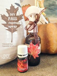 DIY Essential Oil Infused Fall Room Spray