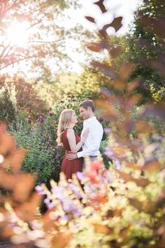 Elegant Botanic Garden Engagement Session: http://www.stylemepretty.com/pennsylvania-weddings/kennett-square/2015/11/10/elegant-garden-engagement-session/ | Photography: Alysia & Jayson - http://www.alysiaandjayson.com/