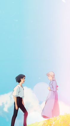 Studio Ghibli Howl's Moving Castle Phone Wallpaper