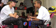 Lewis Hamilton and Nico Rosberg were the best of frenemies back in 2000 at the same karting squad, Team MBM.com – MBM standing for Mercedes-Benz-McLaren, who were watching the two promising youngsters. Hamilton claimed the European crown that year, winning five out of the eight races. #TeamLH #LH44 #NicoRosberg