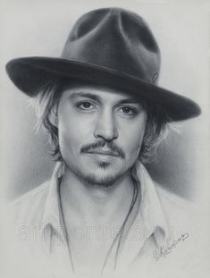 Johnny Depp. Painting and Drawing Portraits with Dry Brush. See more art and information about Igor Kazarin, Press the Image.