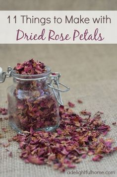 Things to make with dried #rose #rosepetals about half is these are food related, the rest are aromatherapy and cosmetic