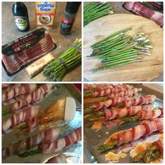 Bacon Wrapped Asparagus Omit Brown Sugar and use a sugar substitute