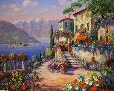 Раскраски по номерам райское местечко