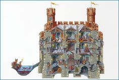 Stephen Biesty - Illustrator - Cross Sections - Gatehouse