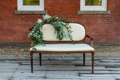 CEREMONY SEATING // these sweet benches have soft upholstered seat and back and are perfect for the intimate weddings our couples are having. We have 6 in our inventory. All the same. Perfect for two people (keep the bubble strong ) and easy to place separately and 6 feet apart for a ceremony. . Thank you for this lovely shot of our bench @erinshepleyphotography @erinshepleyweddings Florals by @creativeedgeflowersyyc . . . #orangetrunkvintagerentals #vintageyyc #vintage #vintageindustrial… Wedding Furniture Rental, Velvet Footstool, Ceremony Seating, Soft Corals, Soft Seating, Wedding Rentals, Intimate Weddings, Orange, White Wood
