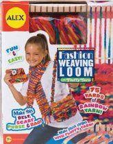 Alex fashion weave loom with fluffy yarn ages 7+