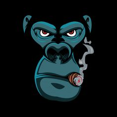 'gorilla smoking ' by Samer Eisheh Graffiti Art, Art Pop, Cool Art Drawings, Cartoon Drawings, Logo D'art, Graffiti Characters, Graffiti Cartoons, Dope Cartoon Art, Monkey Art