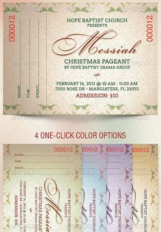 Messiah Christmas Pageant Ticket...