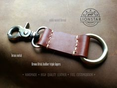 027 LIONSTARS Leather Keychain man gift husband by THELIONSTARS