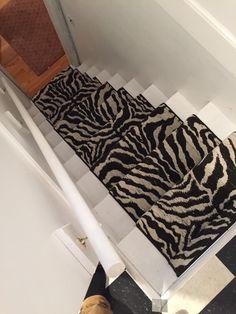 Zebra Print Animal Stair Runner Hall Runners Weave Stairs