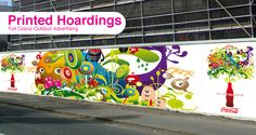 Bright colourful hoarding, visually appealing Mural Art, Art Inspo, Fence, Construction, Bright, Prints, Projects, Outdoor, Image