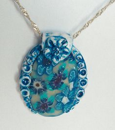 Items similar to Blue Flower Pendant Polymer Clay Jewelry Handmade Pendant Costume Jewelry on Etsy Handmade Jewelry, Unique Jewelry, Handmade Gifts, Flower Pendant, Polymer Clay Jewelry, Blue Flowers, Pendants, Pendant Necklace, Etsy