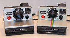 Polaroid Pronto! B One Step Land Cameras 600 Film Lot of 2 Instant Film Cameras #Polaroid