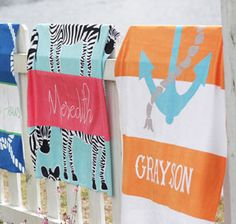 Personalized Beach Towels--Time for the beach! www.floridabeachbums.com