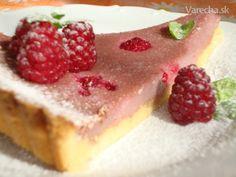 Malinový koláč z krehkého cesta (fotorecept)
