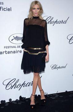 Anja Rubik en la fiesta de Chopard en Cannes