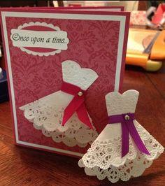 Invitaciones con blondas de papel - Dale Detalles