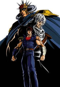 Hokuto no Ken / Ken le Survivant - Studio Toei Animation - 109 episodes [Finish Airing] Manga Anime, Old Anime, Anime Art, Illustration Manga, Illustrations, Star Tv Series, Les Innocents, Japan Expo, Warrior Names