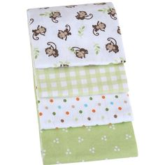 Garanimals 100% Cotton Receiving Blankets, Set of 4