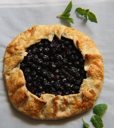 Blueberry Mint Cream Cheese Galette [France]