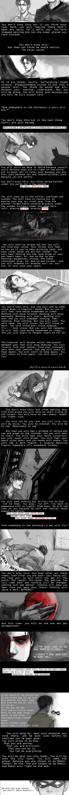 Wow, that is all I can saw to this. It is beautiful, deep,and so wonderful. I love it soo much. Words can not explain how well this speaks to me I a way.--So sad