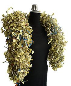 OMG! I love this paper shawl made out of paper yarn - recycled yellow pages!!!