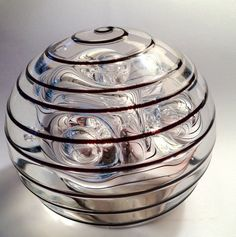 PAPERWEIGHT WITH BUBBLES AND LINES!